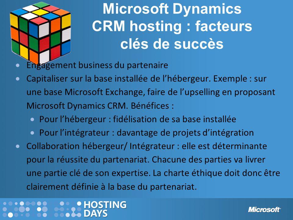 Microsoft Dynamics CRM hosting : facteurs clés de succès