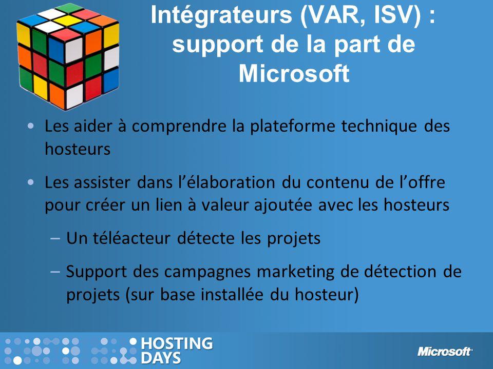 Intégrateurs (VAR, ISV) : support de la part de Microsoft