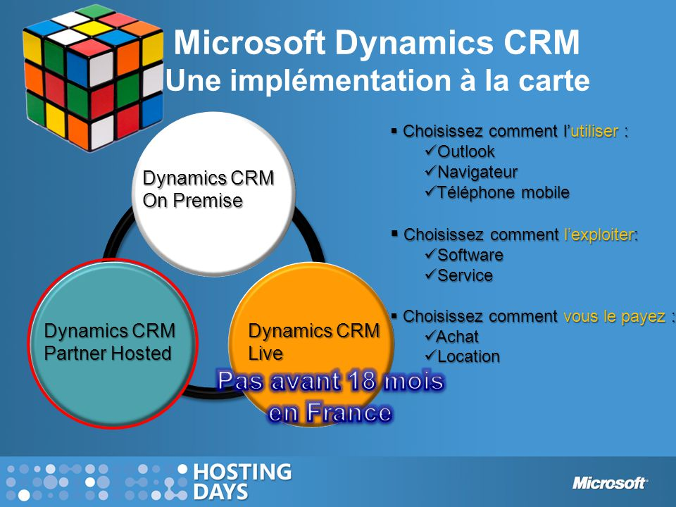 Microsoft Dynamics CRM Une implémentation à la carte