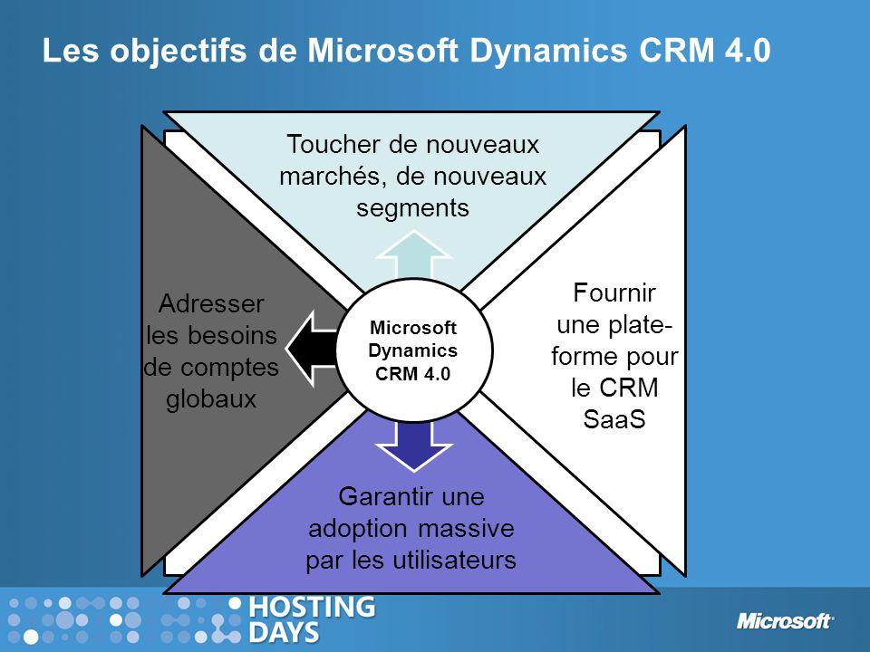 Les objectifs de Microsoft Dynamics CRM 4.0