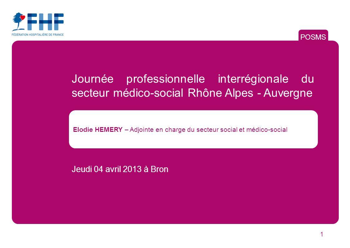 POSMS Journée professionnelle interrégionale du secteur médico-social Rhône Alpes - Auvergne.