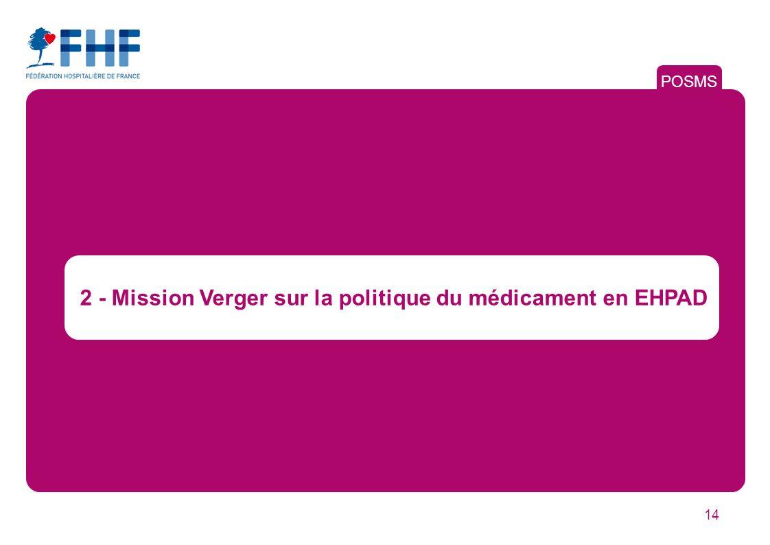 2 - Mission Verger sur la politique du médicament en EHPAD