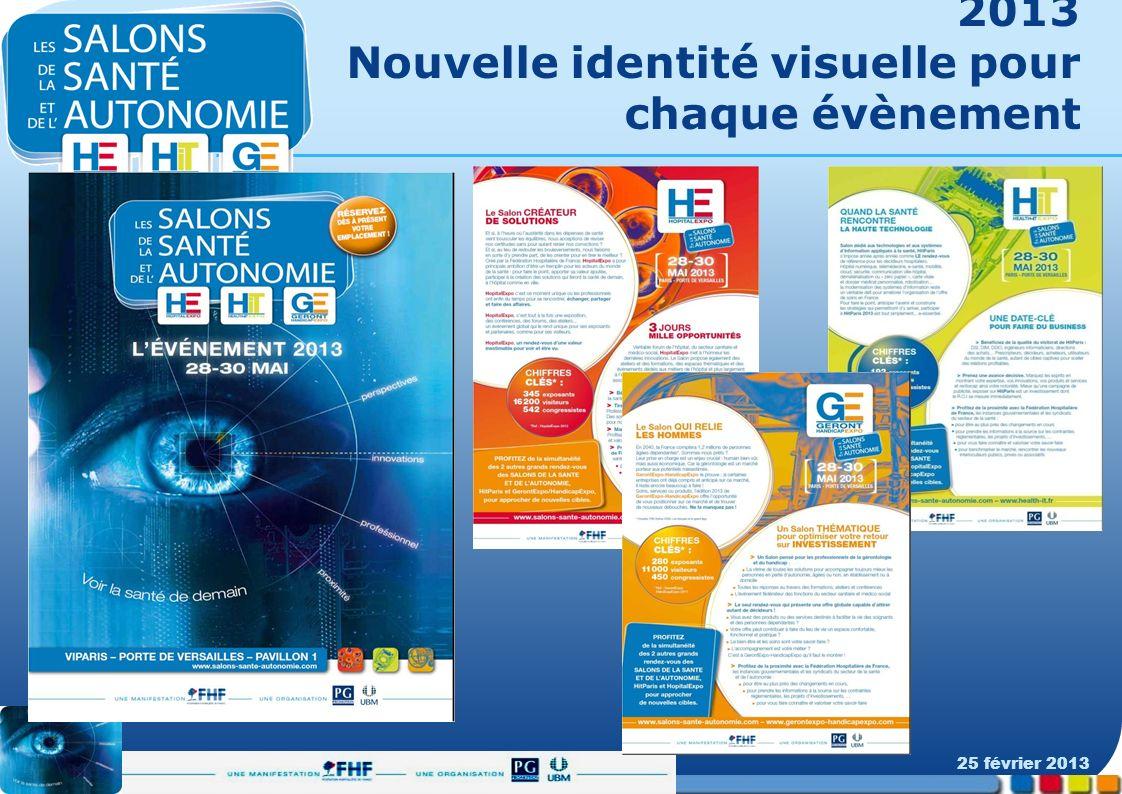 2013 Nouvelle identité visuelle pour chaque évènement