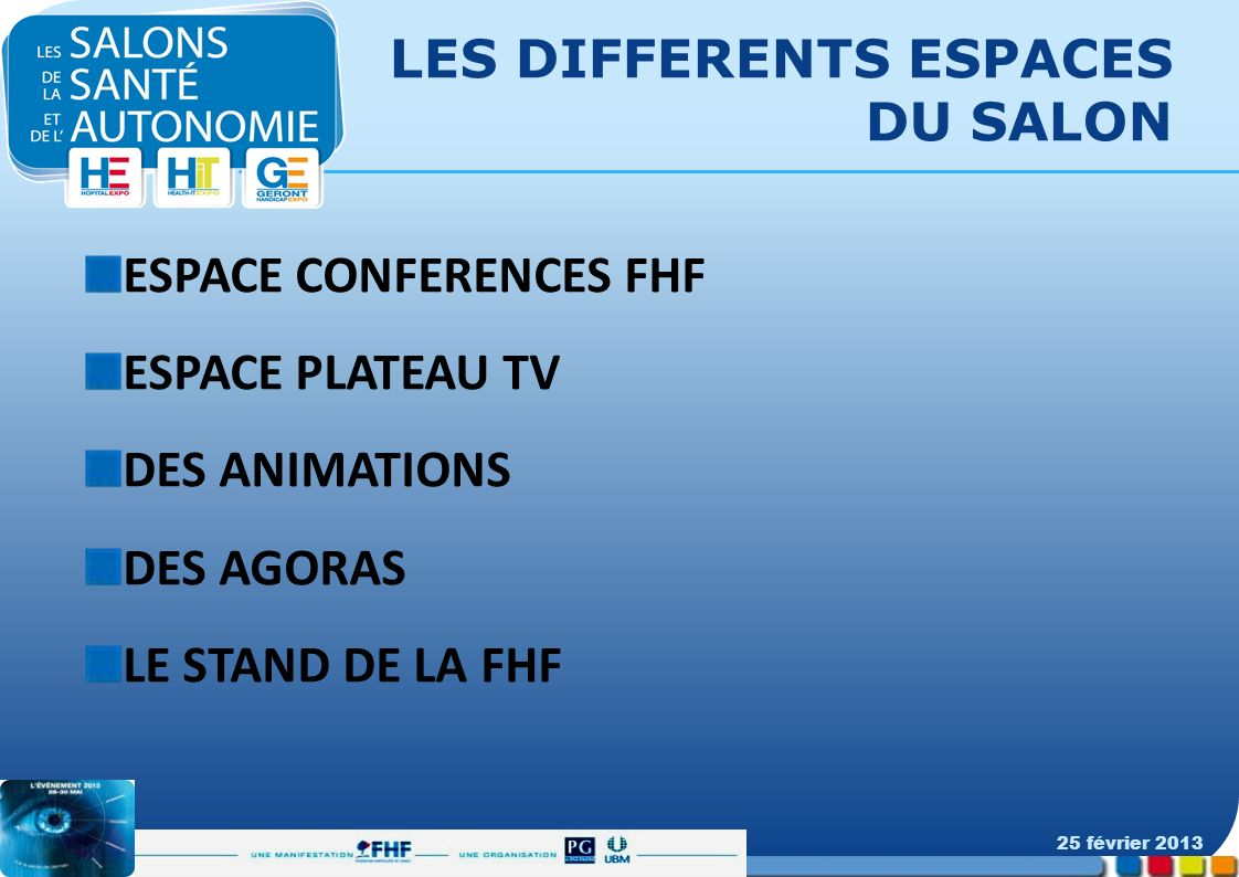 LES DIFFERENTS ESPACES DU SALON