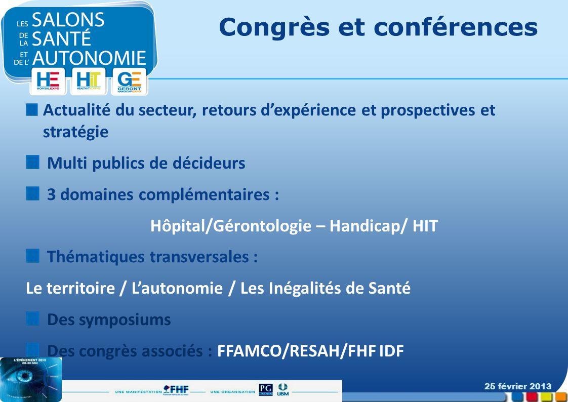 Congrès et conférences