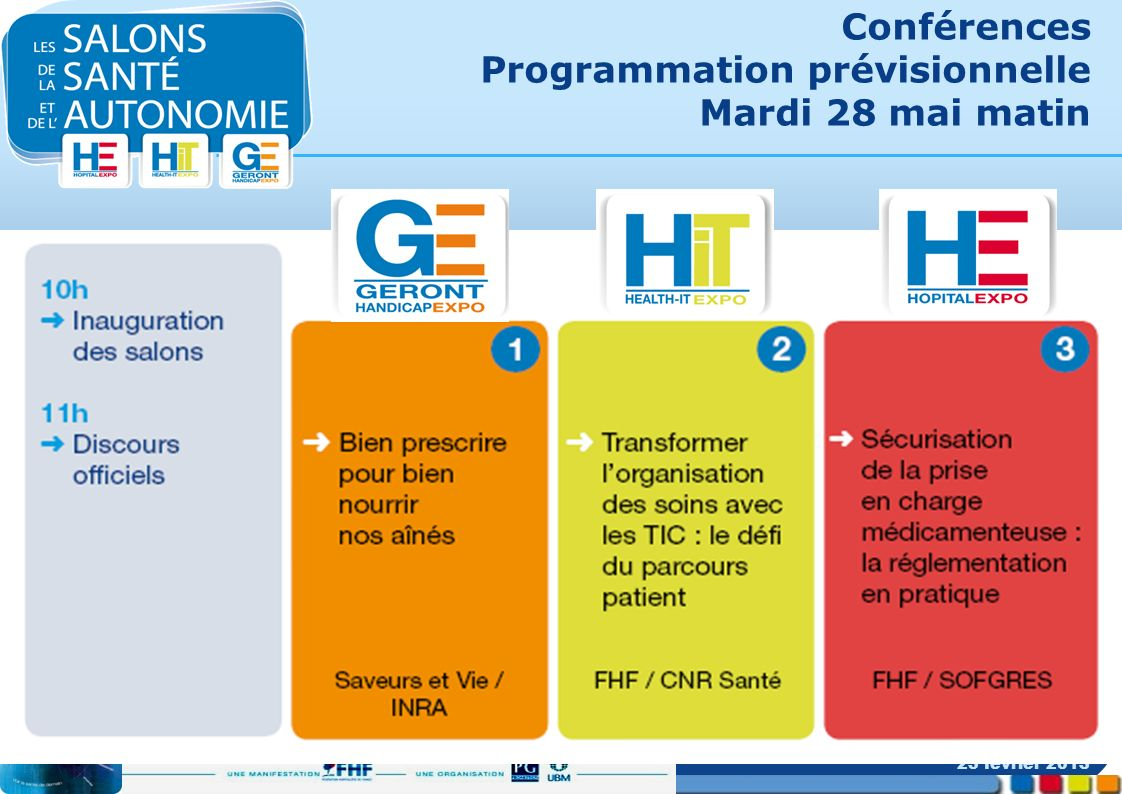 Conférences Programmation prévisionnelle Mardi 28 mai matin