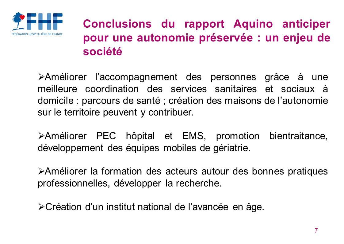 Conclusions du rapport Aquino anticiper pour une autonomie préservée : un enjeu de société