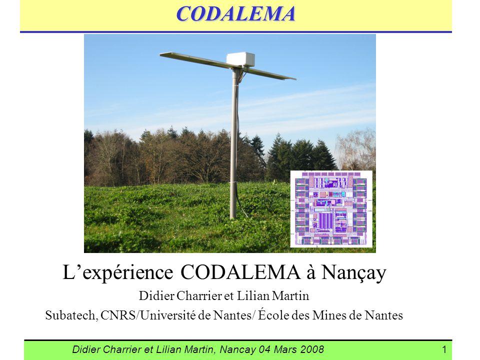 L'expérience CODALEMA à Nançay
