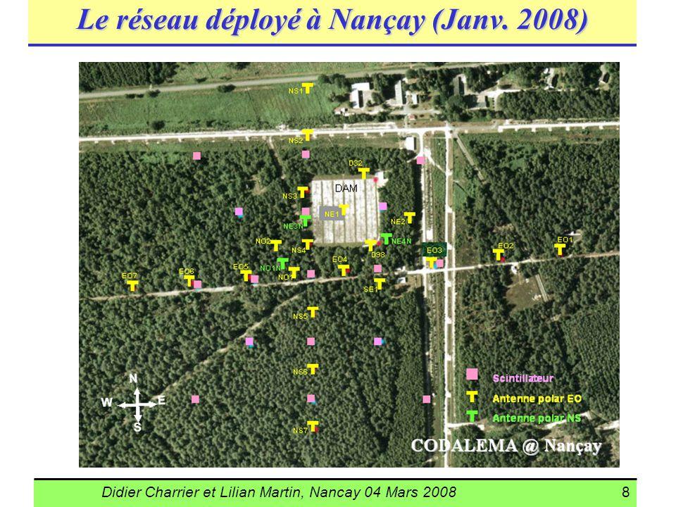 Le réseau déployé à Nançay (Janv. 2008)