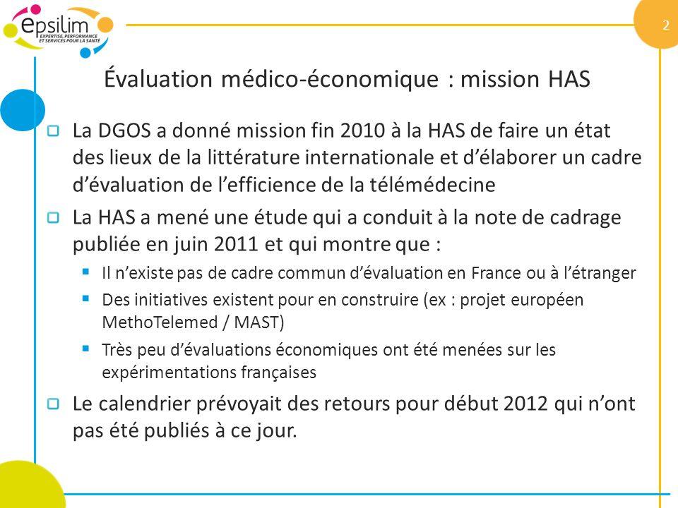 Évaluation médico-économique : mission HAS