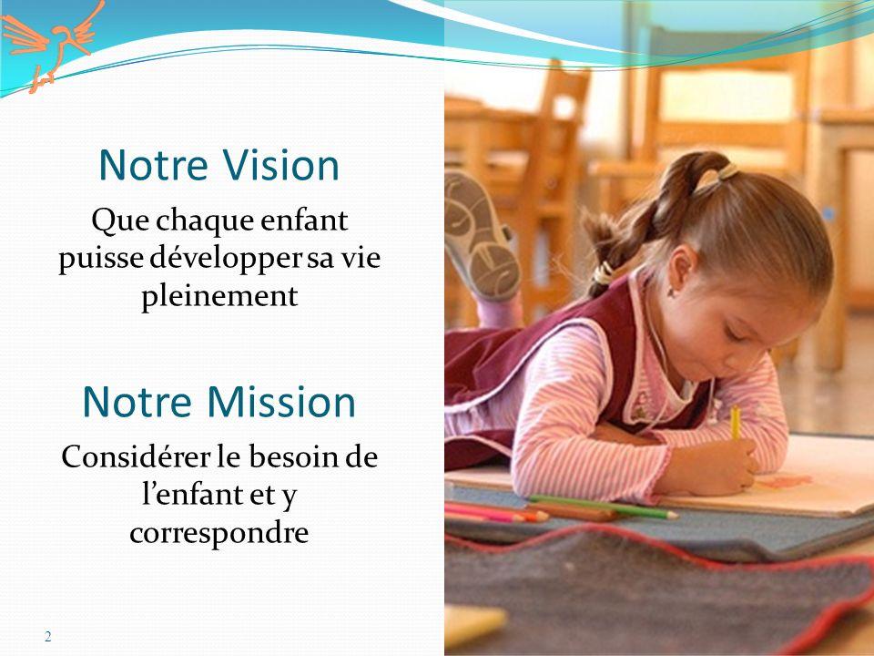Notre Vision Notre Mission