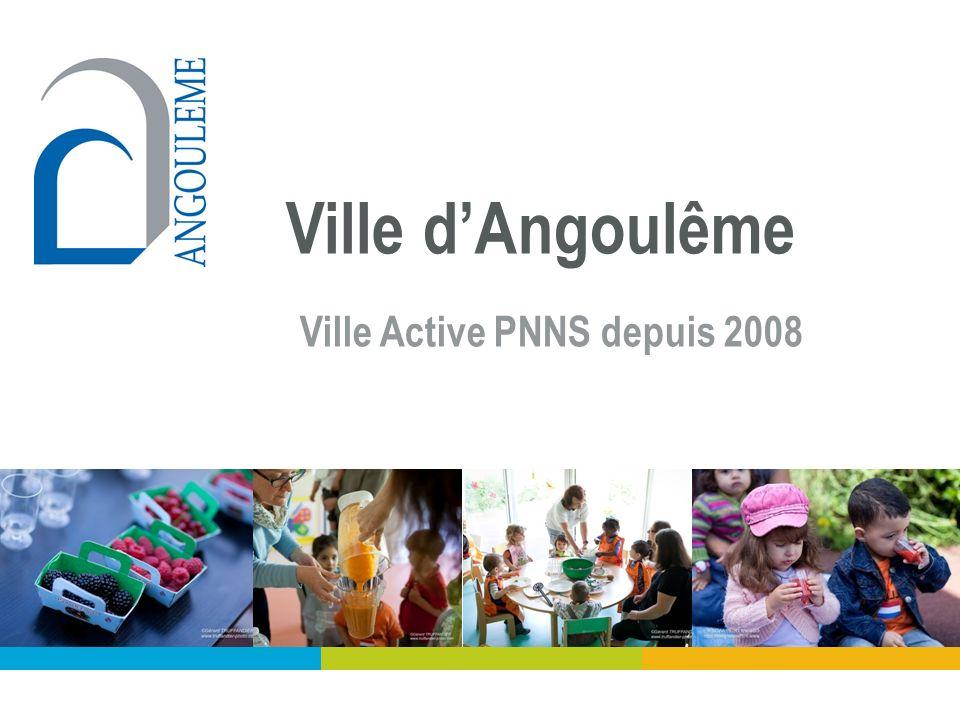 Ville d'Angoulême Ville Active PNNS depuis 2008 Villes actives PNNS