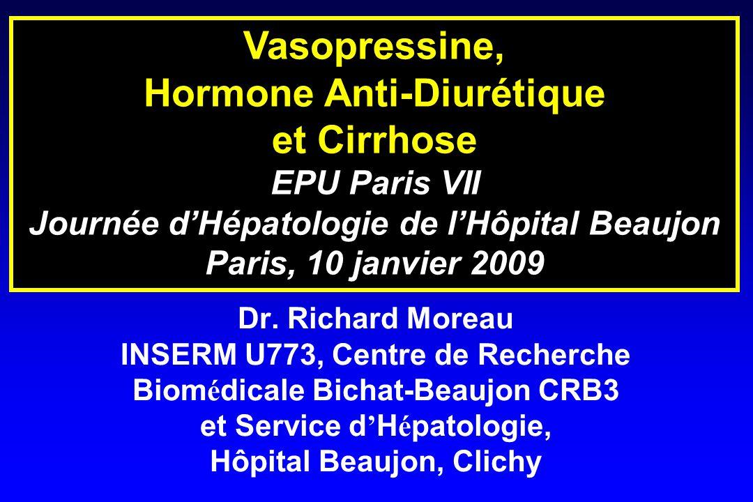 Hormone Anti-Diurétique Journée d'Hépatologie de l'Hôpital Beaujon