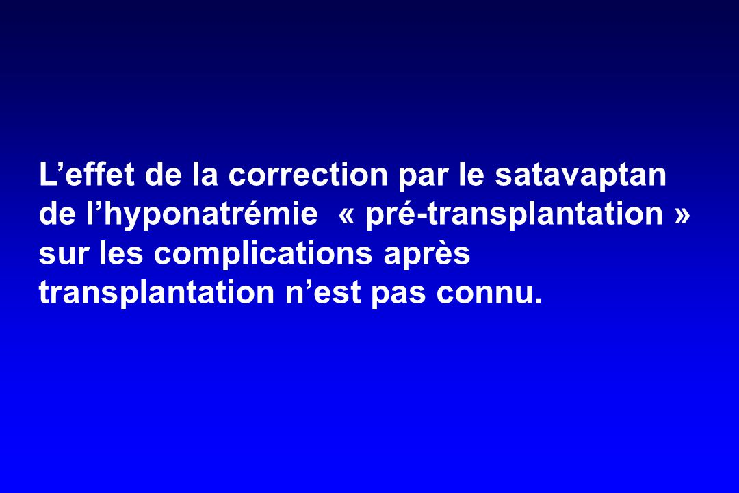 L'effet de la correction par le satavaptan