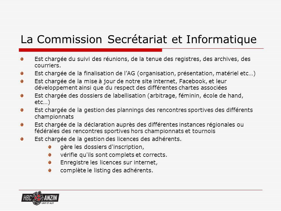 La Commission Secrétariat et Informatique