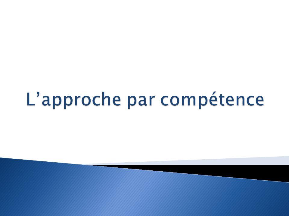 L'approche par compétence