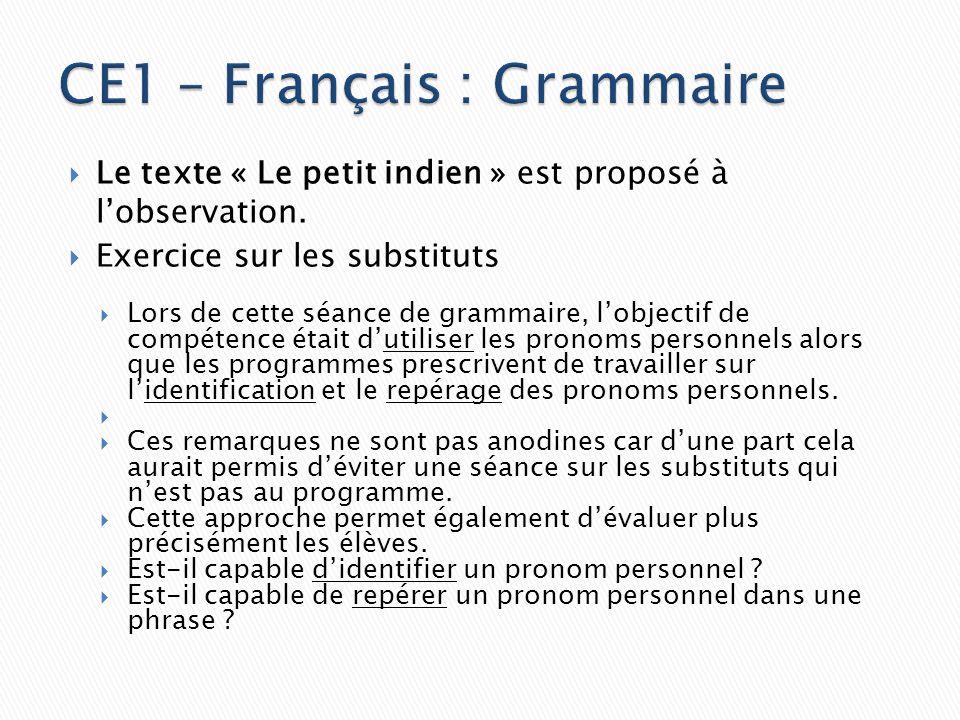 CE1 – Français : Grammaire