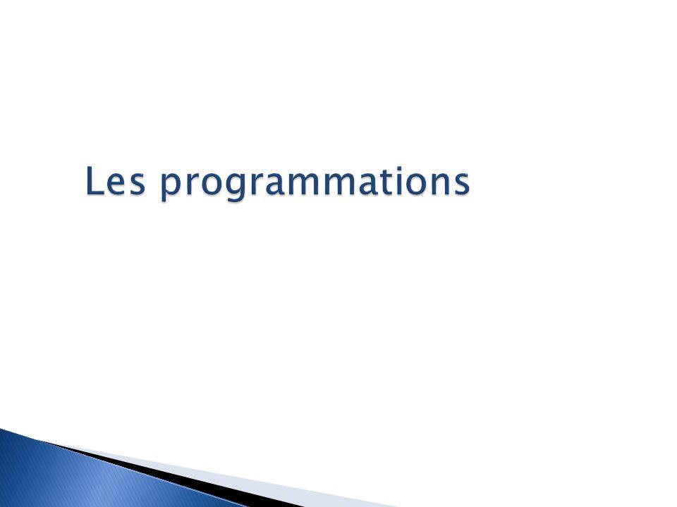 Les programmations