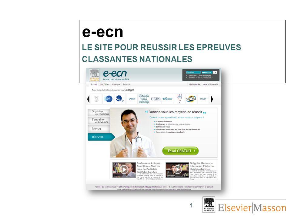 e-ecn LE SITE POUR REUSSIR LES EPREUVES CLASSANTES NATIONALES