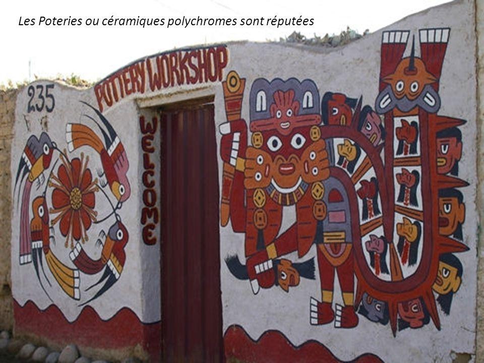 Les Poteries ou céramiques polychromes sont réputées