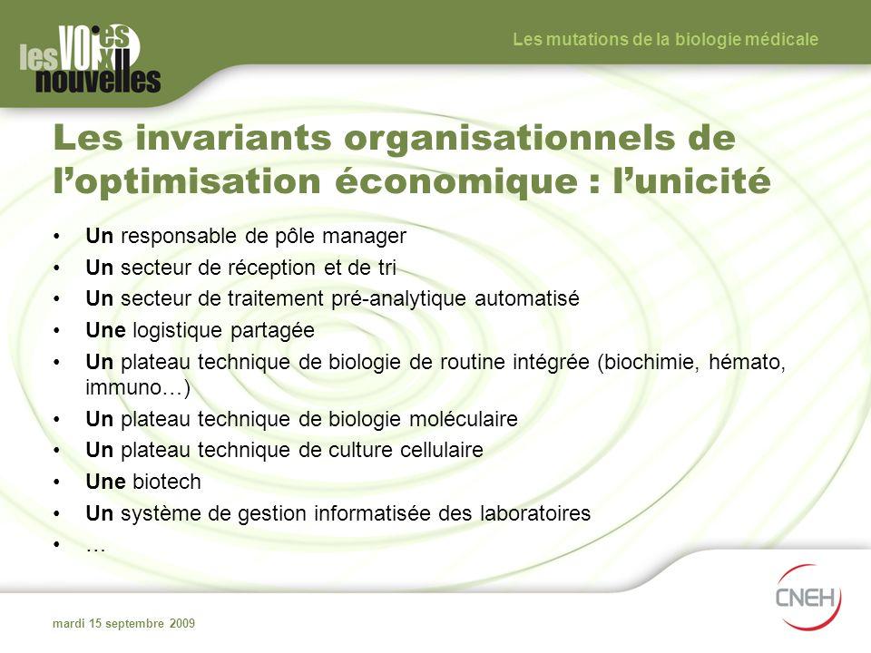 Les mutations de la biologie médicale