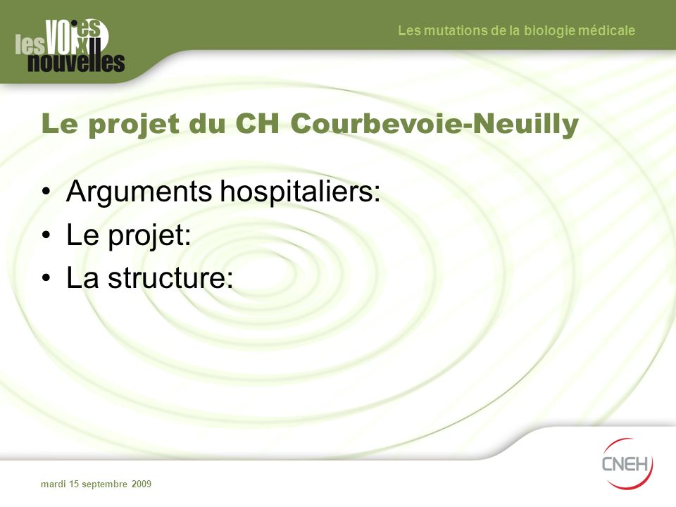 Le projet du CH Courbevoie-Neuilly