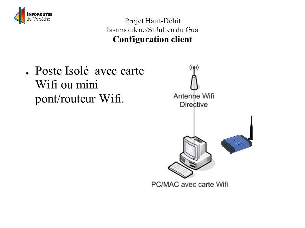 Projet Haut-Débit Issamoulenc/St Julien du Gua Configuration client