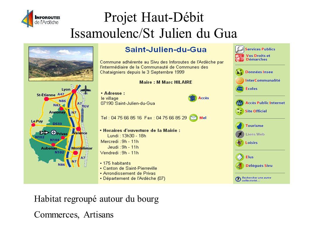 Projet Haut-Débit Issamoulenc/St Julien du Gua