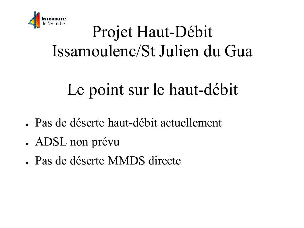 Projet Haut-Débit Issamoulenc/St Julien du Gua Le point sur le haut-débit