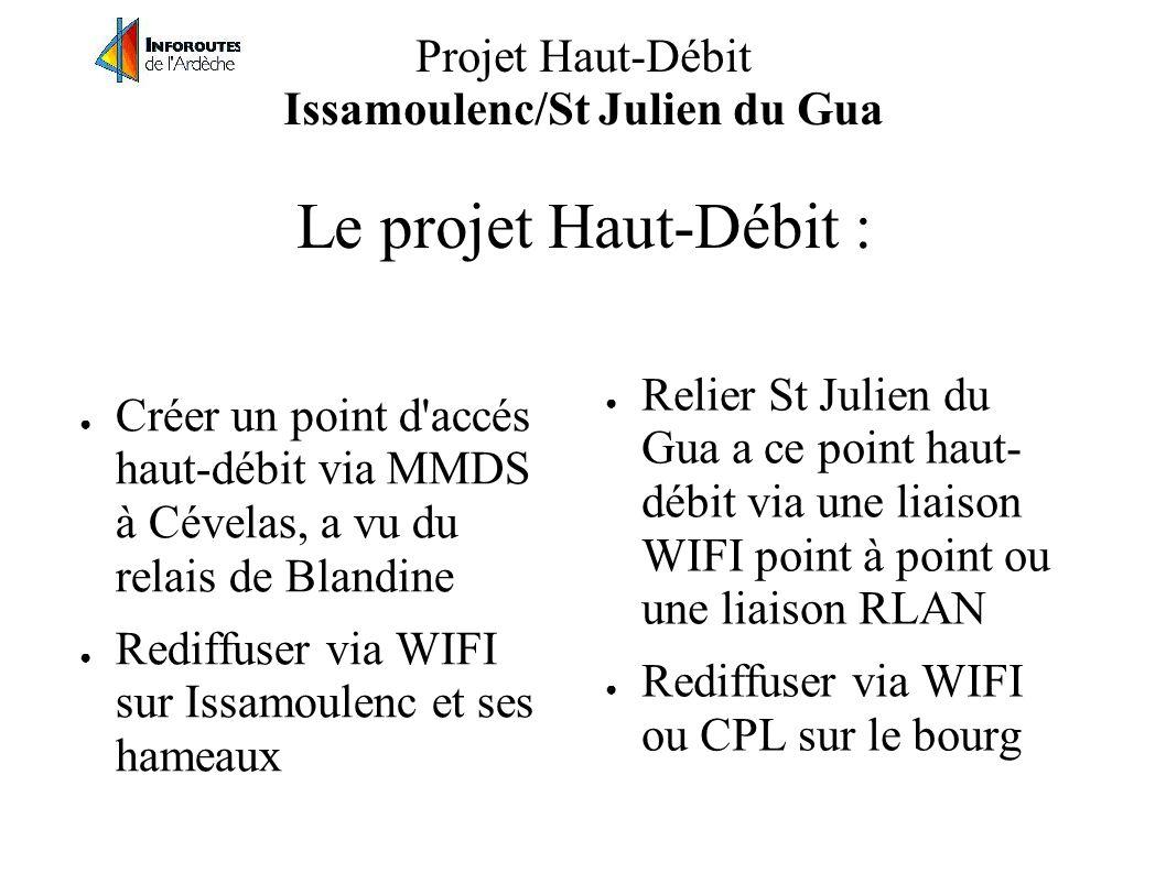 Projet Haut-Débit Issamoulenc/St Julien du Gua Le projet Haut-Débit :