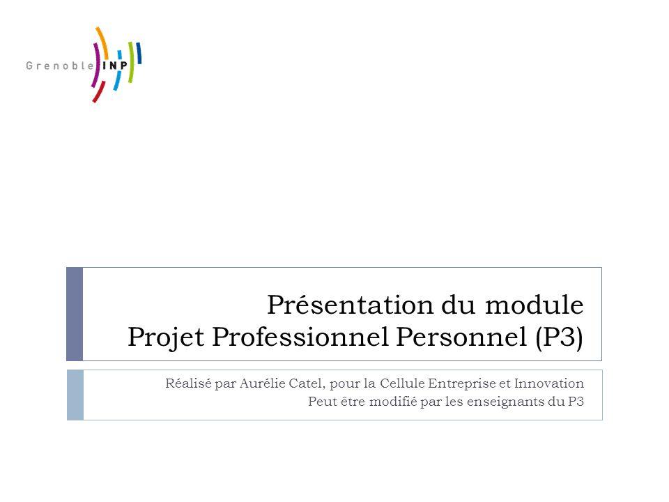 Présentation du module Projet Professionnel Personnel (P3)