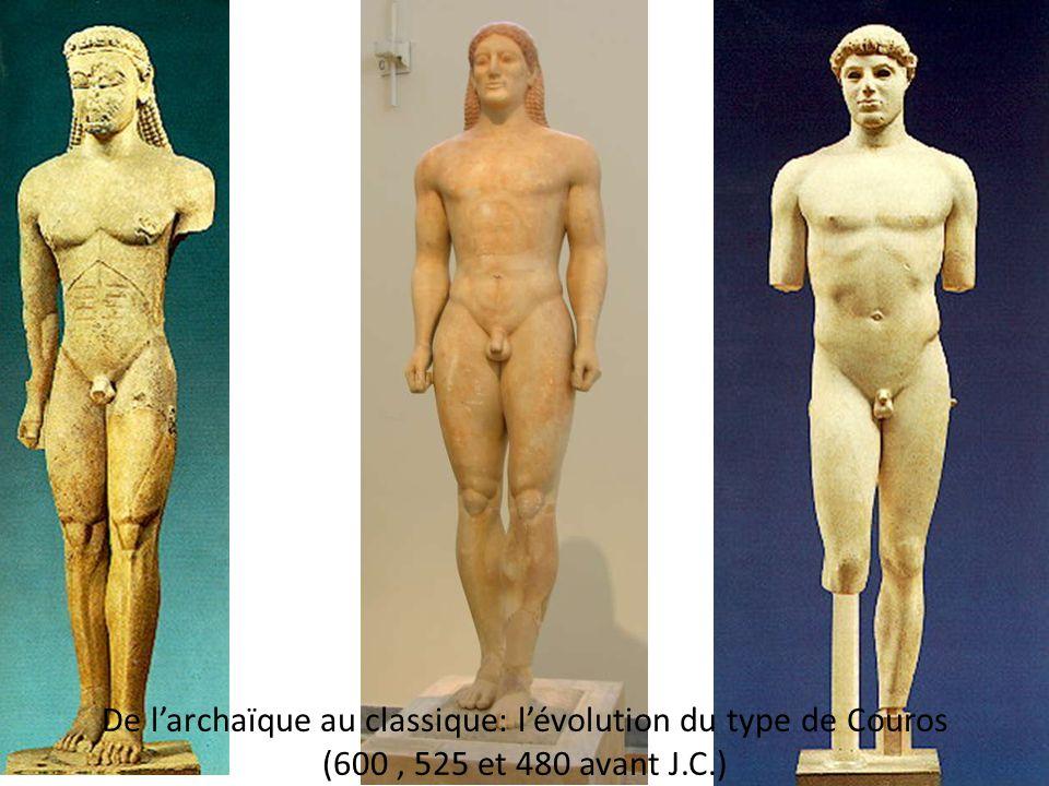 De l'archaïque au classique: l'évolution du type de Couros (600 , 525 et 480 avant J.C.)