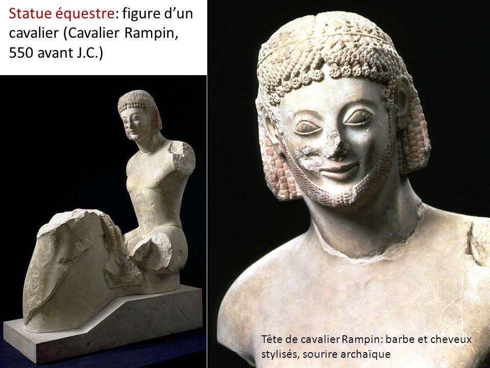 Statue équestre: figure d'un cavalier (Cavalier Rampin, 550 avant J. C
