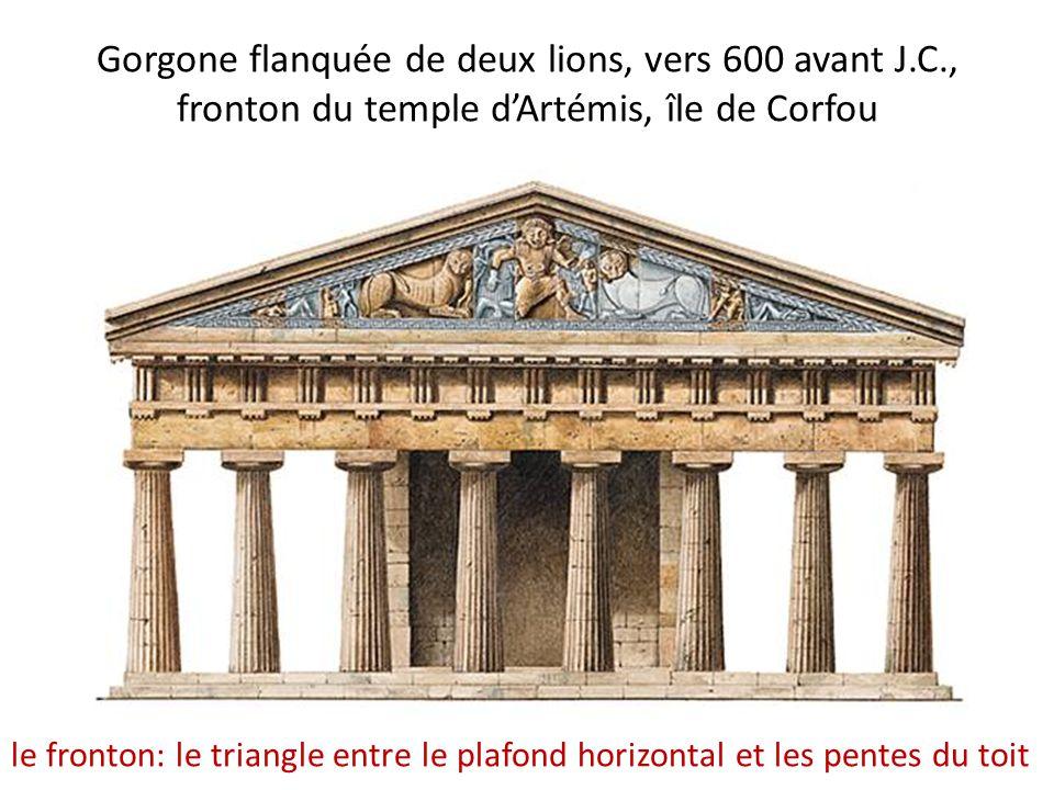 Gorgone flanquée de deux lions, vers 600 avant J. C