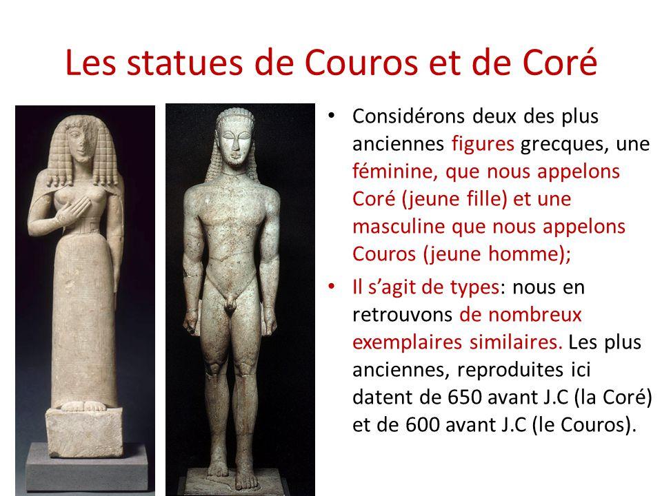 Les statues de Couros et de Coré