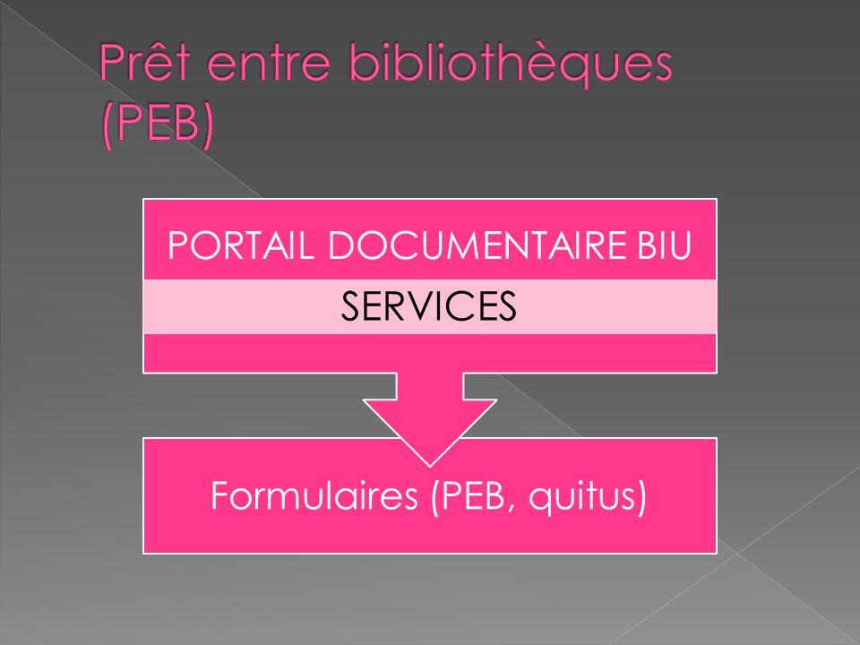Prêt entre bibliothèques (PEB)