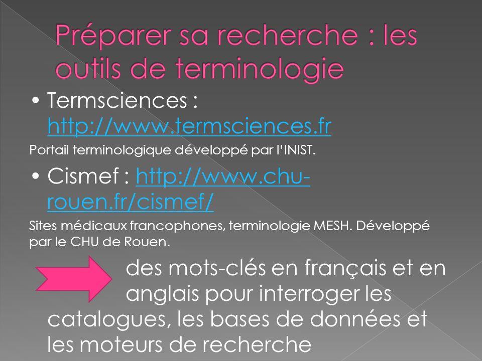 Préparer sa recherche : les outils de terminologie