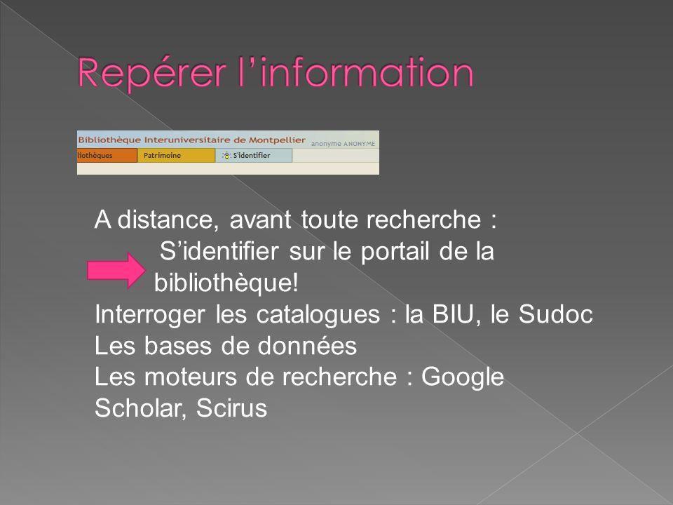 Repérer l'information