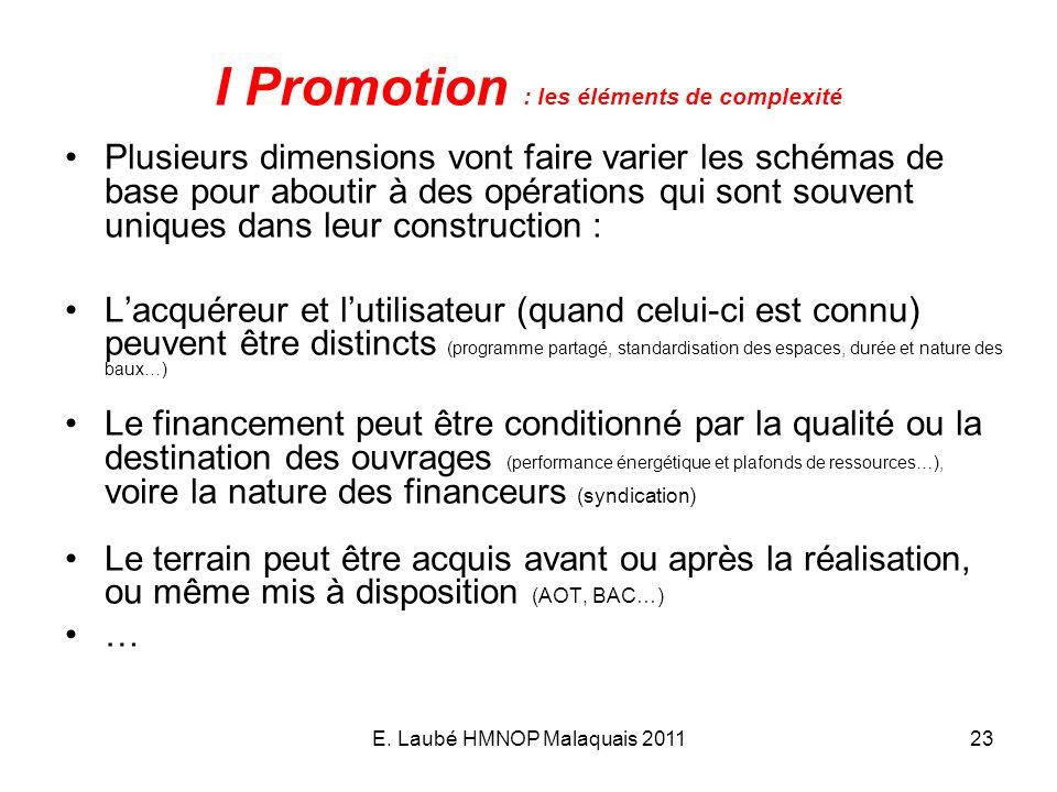 I Promotion : les éléments de complexité