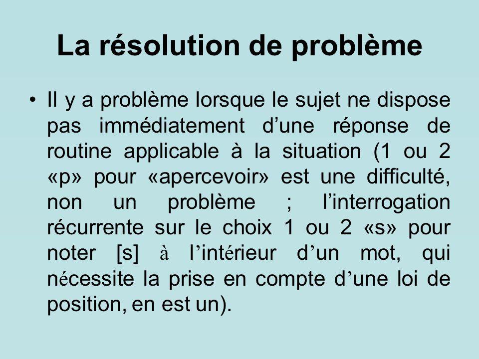 La résolution de problème