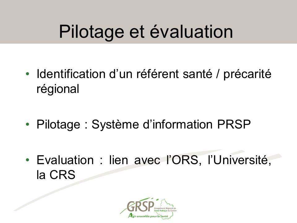 Pilotage et évaluation