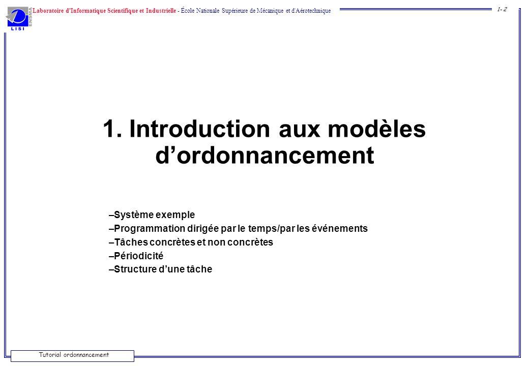 1. Introduction aux modèles d'ordonnancement