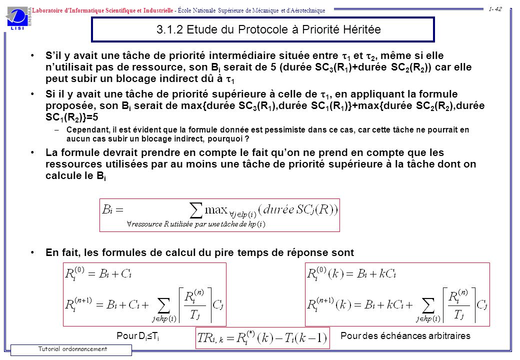 3.1.2 Etude du Protocole à Priorité Héritée