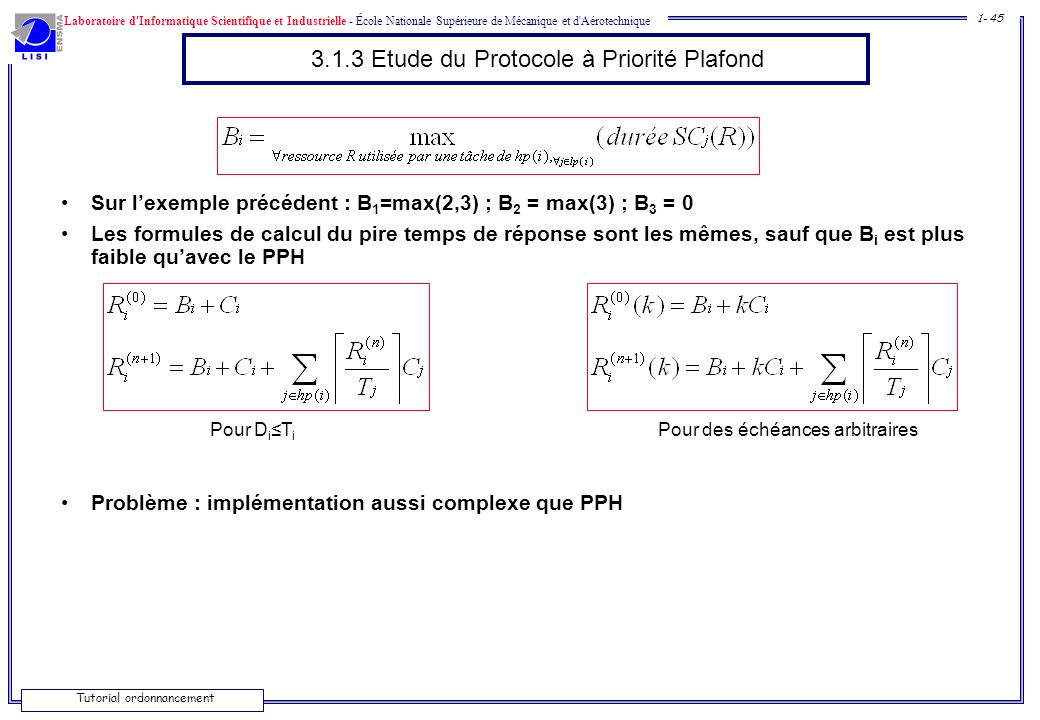 3.1.3 Etude du Protocole à Priorité Plafond