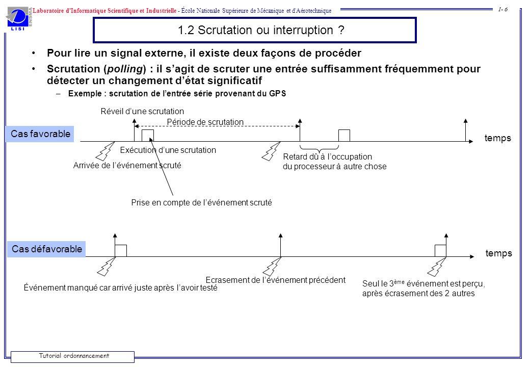 1.2 Scrutation ou interruption
