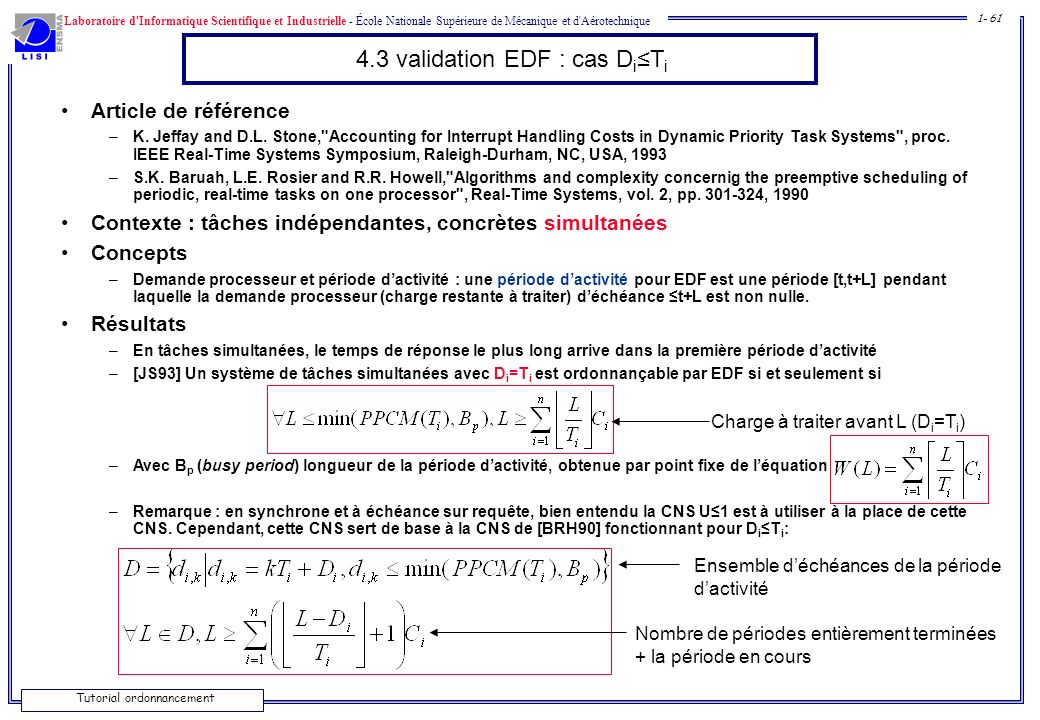 4.3 validation EDF : cas Di≤Ti