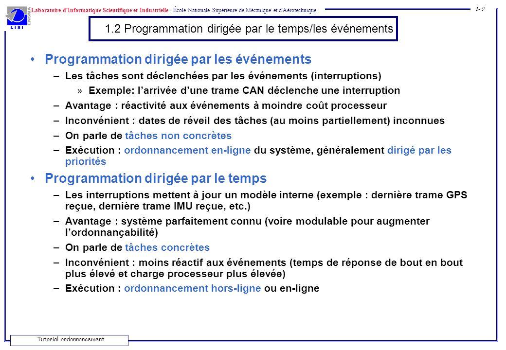 1.2 Programmation dirigée par le temps/les événements