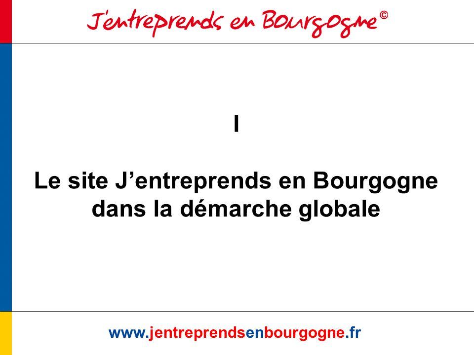 I Le site J'entreprends en Bourgogne dans la démarche globale