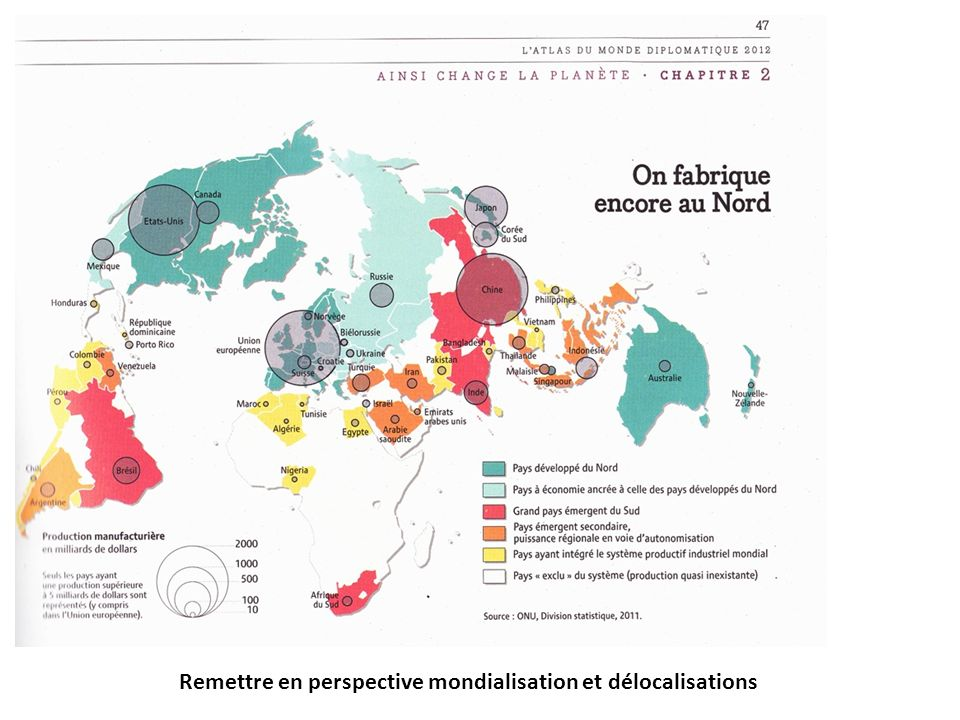 Remettre en perspective mondialisation et délocalisations