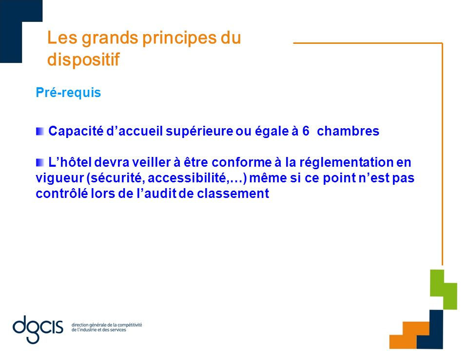Les grands principes du dispositif